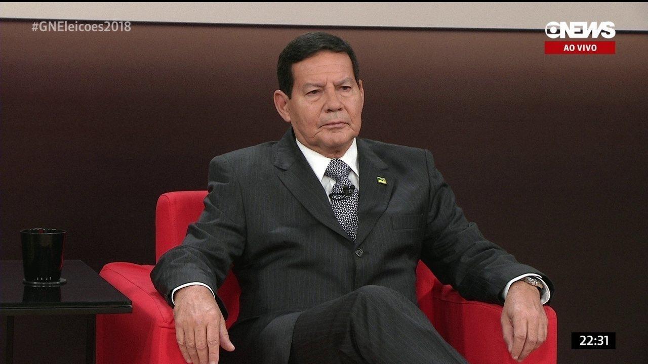 Mourão fala que investimento em modal rodoviário foi erro do país